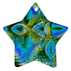Mystical Spring, Abstract Crystal Renewal Star Ornament (Two Sides)