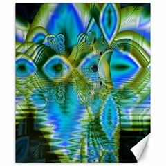 Mystical Spring, Abstract Crystal Renewal Canvas 20  X 24  (unframed)