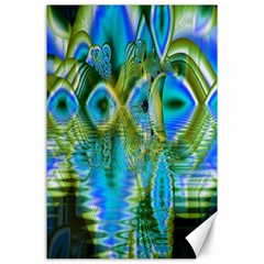 Mystical Spring, Abstract Crystal Renewal Canvas 24  x 36  (Unframed)