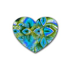 Mystical Spring, Abstract Crystal Renewal Drink Coasters (Heart)