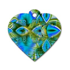 Mystical Spring, Abstract Crystal Renewal Dog Tag Heart (One Sided)