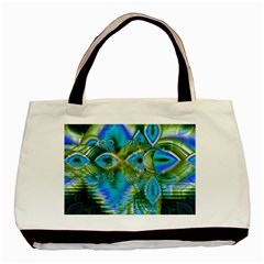 Mystical Spring, Abstract Crystal Renewal Twin-sided Black Tote Bag