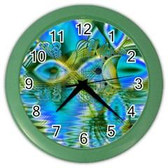 Mystical Spring, Abstract Crystal Renewal Wall Clock (color)