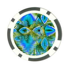 Mystical Spring, Abstract Crystal Renewal Poker Chip
