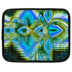 Mystical Spring, Abstract Crystal Renewal Netbook Sleeve (Large)