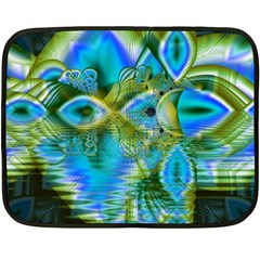 Mystical Spring, Abstract Crystal Renewal Mini Fleece Blanket (two Sided)