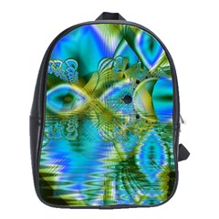Mystical Spring, Abstract Crystal Renewal School Bag (large)