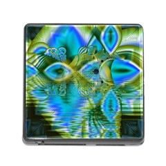 Mystical Spring, Abstract Crystal Renewal Memory Card Reader with Storage (Square)