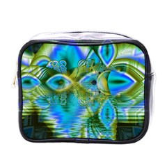 Mystical Spring, Abstract Crystal Renewal Mini Travel Toiletry Bag (One Side)