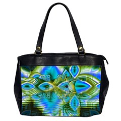 Mystical Spring, Abstract Crystal Renewal Oversize Office Handbag (two Sides)