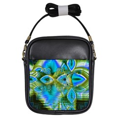 Mystical Spring, Abstract Crystal Renewal Girl s Sling Bag