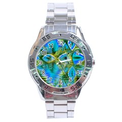 Mystical Spring, Abstract Crystal Renewal Stainless Steel Watch