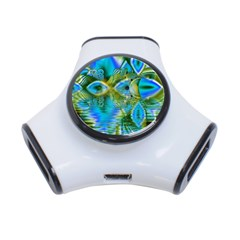 Mystical Spring, Abstract Crystal Renewal 3 Port USB Hub
