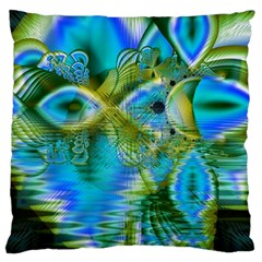 Mystical Spring, Abstract Crystal Renewal Large Cushion Case (Two Sided)