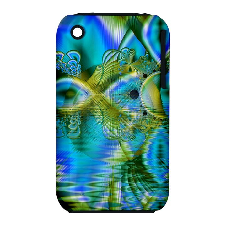 Mystical Spring, Abstract Crystal Renewal Apple iPhone 3G/3GS Hardshell Case (PC+Silicone)