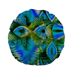 Mystical Spring, Abstract Crystal Renewal 15  Premium Round Cushion