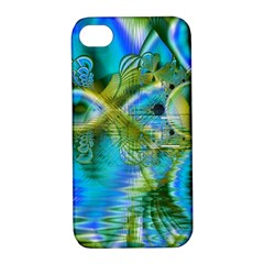 Mystical Spring, Abstract Crystal Renewal Apple iPhone 4/4S Hardshell Case with Stand