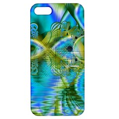 Mystical Spring, Abstract Crystal Renewal Apple iPhone 5 Hardshell Case with Stand