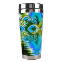 Mystical Spring, Abstract Crystal Renewal Stainless Steel Travel Tumbler