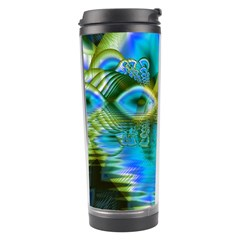 Mystical Spring, Abstract Crystal Renewal Travel Tumbler