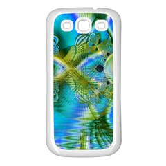 Mystical Spring, Abstract Crystal Renewal Samsung Galaxy S3 Back Case (White)