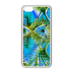 Mystical Spring, Abstract Crystal Renewal Apple iPhone 5C Seamless Case (White)