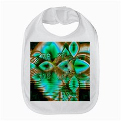 Spring Leaves, Abstract Crystal Flower Garden Bib