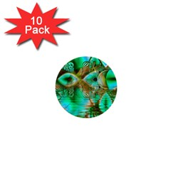 Spring Leaves, Abstract Crystal Flower Garden 1  Mini Button (10 pack)
