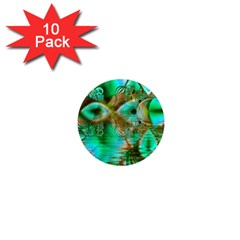 Spring Leaves, Abstract Crystal Flower Garden 1  Mini Button Magnet (10 pack)