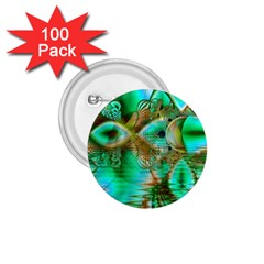 Spring Leaves, Abstract Crystal Flower Garden 1.75  Button (100 pack)