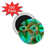 Spring Leaves, Abstract Crystal Flower Garden 1.75  Button Magnet (100 pack)