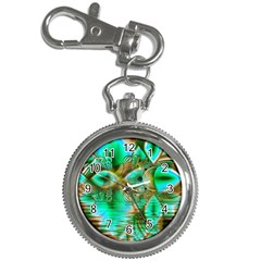 Spring Leaves, Abstract Crystal Flower Garden Key Chain Watch