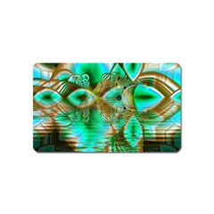Spring Leaves, Abstract Crystal Flower Garden Magnet (Name Card)