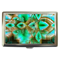 Spring Leaves, Abstract Crystal Flower Garden Cigarette Money Case