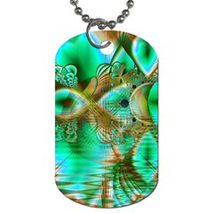 Spring Leaves, Abstract Crystal Flower Garden Dog Tag (Two-sided)