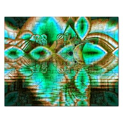 Spring Leaves, Abstract Crystal Flower Garden Jigsaw Puzzle (Rectangle)
