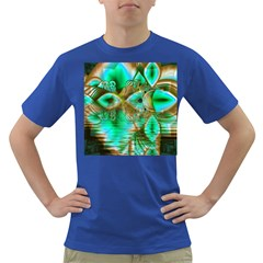 Spring Leaves, Abstract Crystal Flower Garden Men s T-shirt (Colored)
