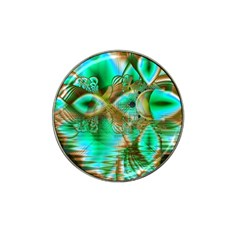 Spring Leaves, Abstract Crystal Flower Garden Golf Ball Marker 4 Pack (for Hat Clip)