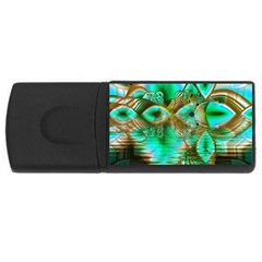 Spring Leaves, Abstract Crystal Flower Garden 4gb Usb Flash Drive (rectangle)