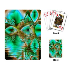 Spring Leaves, Abstract Crystal Flower Garden Playing Cards Single Design