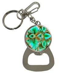 Spring Leaves, Abstract Crystal Flower Garden Bottle Opener Key Chain