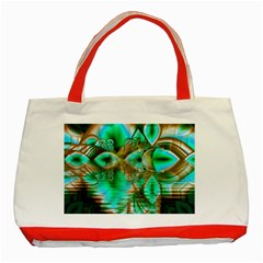 Spring Leaves, Abstract Crystal Flower Garden Classic Tote Bag (Red)