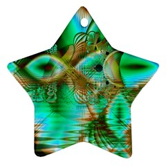 Spring Leaves, Abstract Crystal Flower Garden Star Ornament (Two Sides)