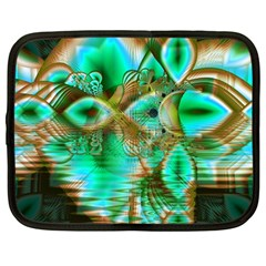 Spring Leaves, Abstract Crystal Flower Garden Netbook Sleeve (large)