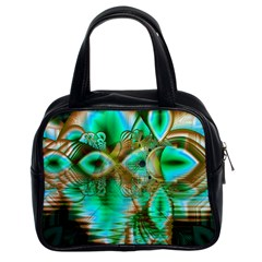 Spring Leaves, Abstract Crystal Flower Garden Classic Handbag (two Sides)
