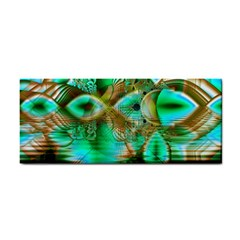Spring Leaves, Abstract Crystal Flower Garden Hand Towel