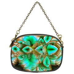 Spring Leaves, Abstract Crystal Flower Garden Chain Purse (one Side)