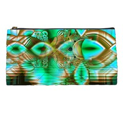 Spring Leaves, Abstract Crystal Flower Garden Pencil Case