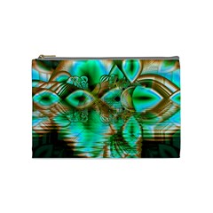 Spring Leaves, Abstract Crystal Flower Garden Cosmetic Bag (medium)