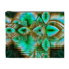 Spring Leaves, Abstract Crystal Flower Garden Cosmetic Bag (XL)